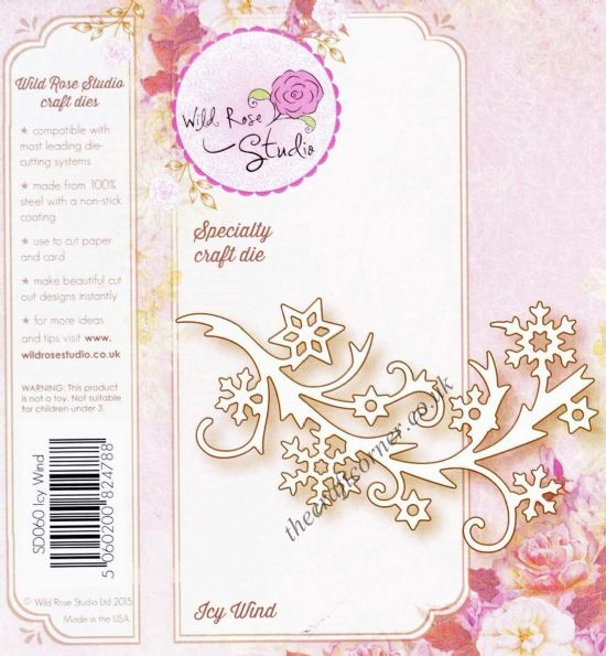 Icy Wind Snowflake Bough Speciality Craft Die By Wild Rose Studio - SD060